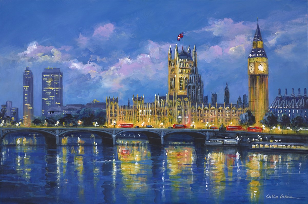 Reflections of Westminster, London by csilla orban -  sized 36x24 inches. Available from Whitewall Galleries